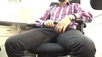 Indian guy mastrubating flashing big dick in office.MOV