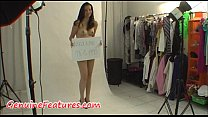 Erotic backstage with beautiful czech teen Thumbnail