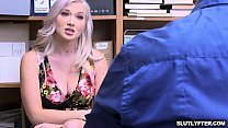 Female teen with bigtits gets fed up with a mature cock!