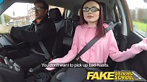 Fake Driving School creampie teen ebony threeso...