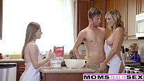 MomsTeachSex - Horny Mom Tricks Teen Into Hot T...
