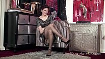 Elegant Fiona in pantyhose