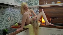 Angel Piaff and Delphine Kitchen Fun