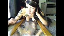 Emo Girl Ridding Dildo and Squirt at hot8cams.com.