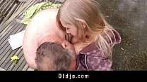 Incredible sex between sweet teenager and old b...