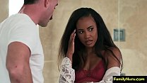 Stepdad erotic massage with ebony daughter