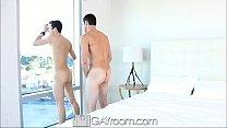 GayRoom Hot guy gets horny after watching his m... Thumbnail