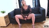 Hairy pussy granny gets interracial fucked by big black cock in pussy and her ass