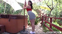 Big butt brunette Gracie gets pussy pounded by ... Thumbnail