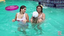 GIRLS GONE WILD - Young Latin Lesbians Have A Pool Party, Then Eat Pussy