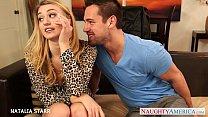 Gorgeous blonde Natalia Starr gives blowjob Thumbnail