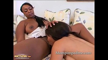 ebony lesbian milf get a young teen to lick her pussy