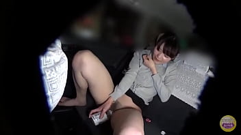Japanese Woman Peeing in Office