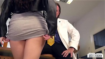 BUMS BUERO - German brunette babe Lullu Gun gets banged by boss in the office thumbnail