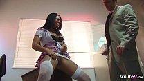 Teacher Seduce Big Clit and Tits Schoolgirl Eva Angelina to Rough Sex