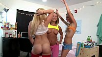 COLLEGE RULES - Young Students With Big Tits & Big Ass Getting Crazy
