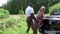Schwarzen Riesen Schwanz angesprochen und Outdoor gefickt