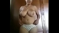 busty black girl gets naked - panama