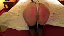 Hard Caning lady in Hotel