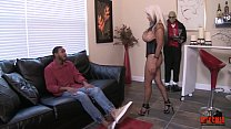 MILF Jacks off amateur BBC at the porn tryouts massive CUM SHOT  Sally D'angelo image