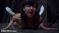 Manacled babe needs sexy torment
