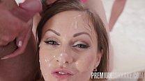Premium Bukkake - Tina Kay swallows 68 big loads and got DP fucked in the ass Vorschaubild