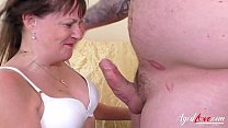 AgedLovE Mature Lady Enjoy Sex with Handy Man