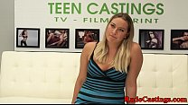 Curvy amateur roughly screwed at sexaudition