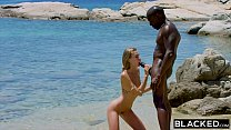 BLACKED Strong black man fucks blonde tourist on the beach preview image