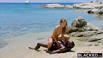 BLACKED Strong black man fucks blonde tourist on the beach video