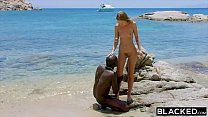 15411 BLACKED Strong black man fucks blonde tourist on the beach preview