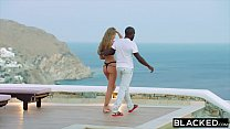 9803 BLACKED Strong black man fucks blonde tourist on the beach preview