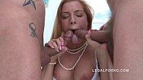 Big butt sluts Chrissy Fox & Alex Black anal 4some with intense DP!