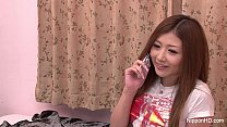 Japanese Babe fingers her pussy