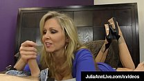 Dominating Cougar Ms. Julia Ann Orders No Cum From Cock! صورة