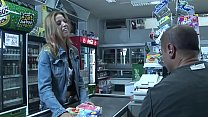 Priscilla gives a customer a blow job at the cashier who doesn't know how to pay tumblr xxx video