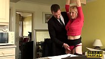 BDSM milf brit instructed to ride by maledom video