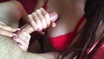 Big Tit Girl Giving an Awesome Edging Handjob - Guy Cums Twice Vorschaubild
