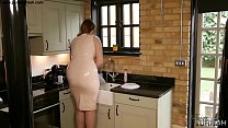 Taboo Step Mum in Latex Teases Step Son with her big Ass - 69VClub.Com
