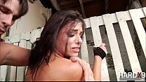 Gorgeous Adriana gets ass fucked in hardcore do...
