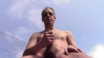 LOOK AT MY STRIPTEASE WITH NICE FINAL CUMSHOT OUTDOOR IN PUBLIC - HOMEMADE HAIRY NAKED DILF AMATEUR SOLO HUNK BIG BALLS HARD COCK - THANKS FOR WATCHING, LIKE, COMMENT AND VOTE, HELLO