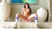 Kaley Kade Rides a Suctioned Dildo