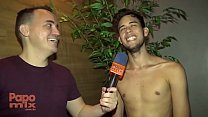At Clube dos Pauzudos, PapoMix interviews pornstar Renato