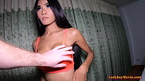 Amateur Ladyboy Poy Gives Mouth And Ass Barebacked