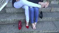 Cams4free.net - Two Goddesses Gorgeous Bare Feet