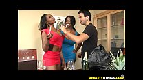 Baby Cakes bares her luscious ebony rack and gets pummeled nicely Vorschaubild