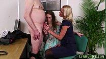 Cfnm mistress tugs boss