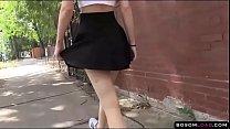 Upskirt flashing pussy in public thumbnail