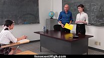 InnocentHigh - Teaching Assistant Fucks Hot Student & Professor pornhub video