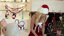 GIRLS GONE WILD - Horny lesbian sorority sisters college Christmas party